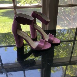 SUEDE PINK HEELS JEFFERY CAMPBELL